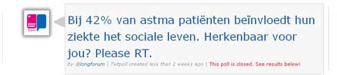 Astma-twitterpoll