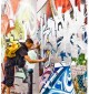 Rue Denoyez, graffiti pieces all- over
