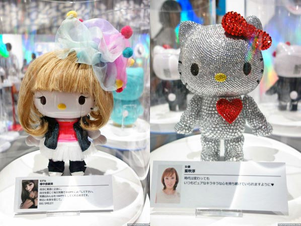 Kittyrobot Hello Kitty 2012 charity swarovski Hello Kitty Robot tentoonstelling