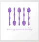 Saving Spoons Today (Purple) Art Print