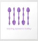 Saving Spoons Today (Purple) Art Print