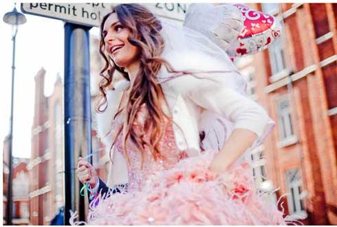 bride-peach-dress-rocknrollbride