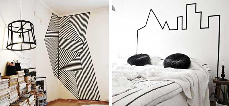 zwart-wit-tape-muren