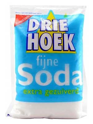 wasmachine schoonmaken soda