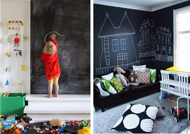 Kinderkamer inspiratie met schoolboordverf muur airmagazine for Kleur kinderkamer